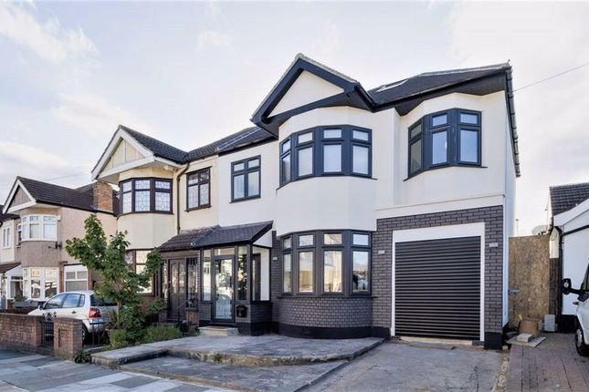 Thumbnail Semi-detached house for sale in Parkside Avenue, Marshalls Park, Romford