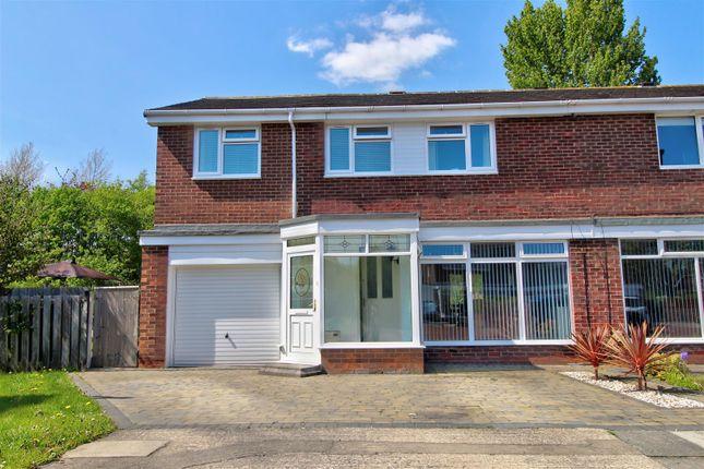 Thumbnail Semi-detached house for sale in Manston Close, Moorside, Sunderland