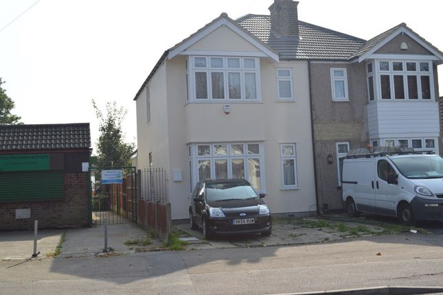 Thumbnail Semi-detached house to rent in Upminster Road North, Rainham