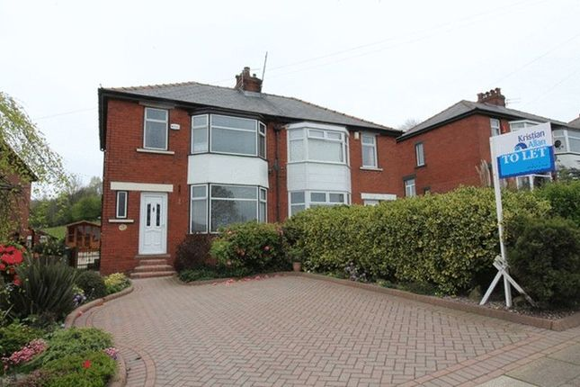 Thumbnail Semi-detached house to rent in Bury New Road, Ramsbottom, Bury