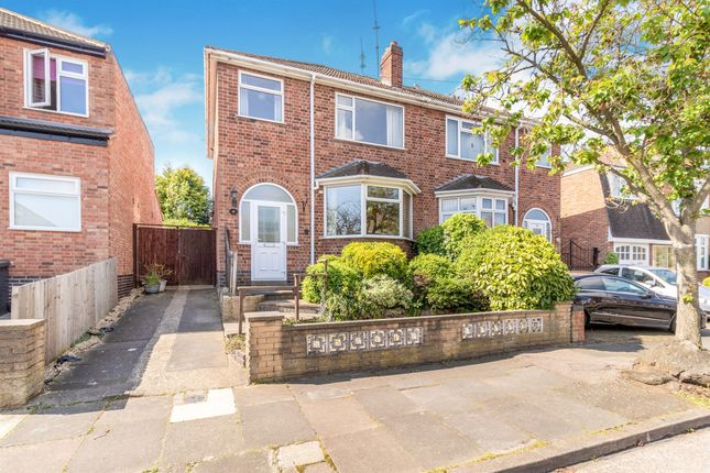 Thumbnail 3 bed semi-detached house for sale in Fairholme Road, Leicester
