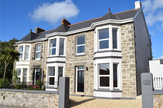 Thumbnail Semi-detached house for sale in Trew Parc, Pednandrea, Redruth