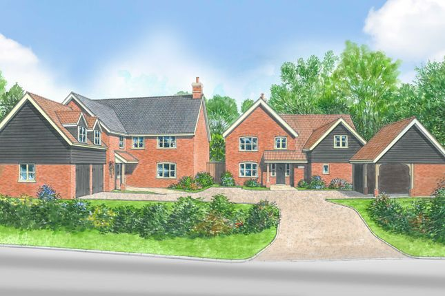 Thumbnail Detached house for sale in Church Road, Wreningham