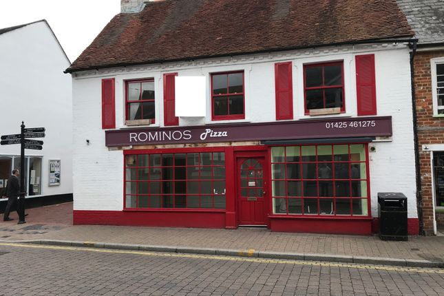 Thumbnail Restaurant/cafe to let in 22-24 High Street, Ringwood, Hampshire