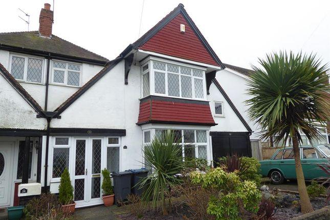 Thumbnail Semi-detached house for sale in Aubrey Road, Harborne, Birmingham
