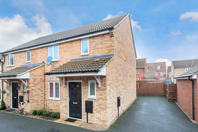 Thumbnail End terrace house for sale in Dewar Close, Corby