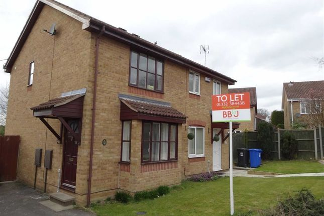 Thumbnail Semi-detached house to rent in Opal Close, Oakwood, Derby