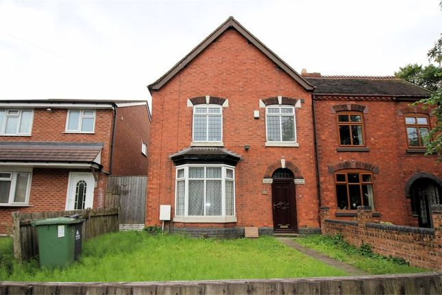 Thumbnail Semi-detached house for sale in Lichfield Road, Shelfield, Walsall
