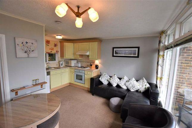 Lounge L Shaped of Chalet 34, Woodlands, Bryncrug, Gwynedd LL36