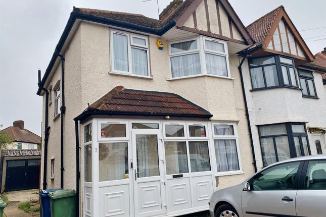 Thumbnail Semi-detached house to rent in Merlin Crescent, Edgware