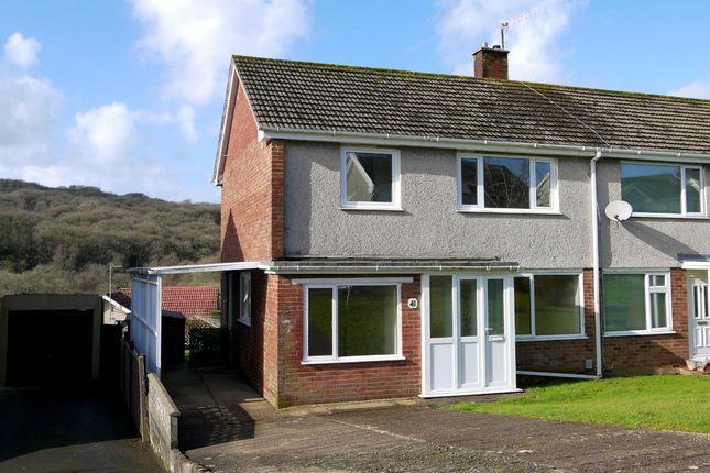 Thumbnail Semi-detached house to rent in Gwerneinon Road, Derwen Fawr, Sketty, Swansea