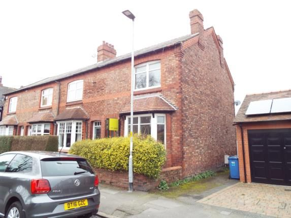 Thumbnail End terrace house for sale in Victoria Road, Stockton Heath, Warrington, Cheshire