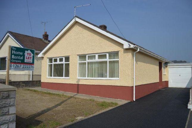 Thumbnail Bungalow to rent in Pentremeurig Road, Carmarthen