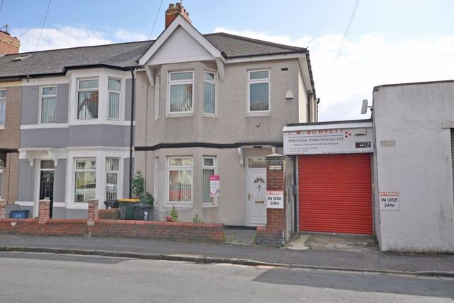 Thumbnail Terraced house for sale in House & Commercial Premises, Rugby Road, Newport