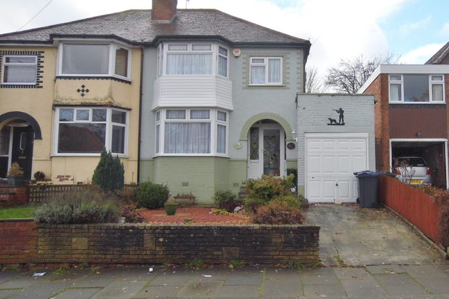 Thumbnail Semi-detached house for sale in Chadwick Avenue, Rednal, Birmingham
