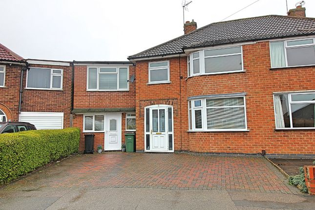 Thumbnail Semi-detached house for sale in Repton Road, Wigston