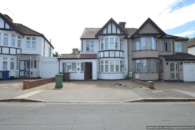 Thumbnail Semi-detached house to rent in Kenton Park Crescent, Harrow