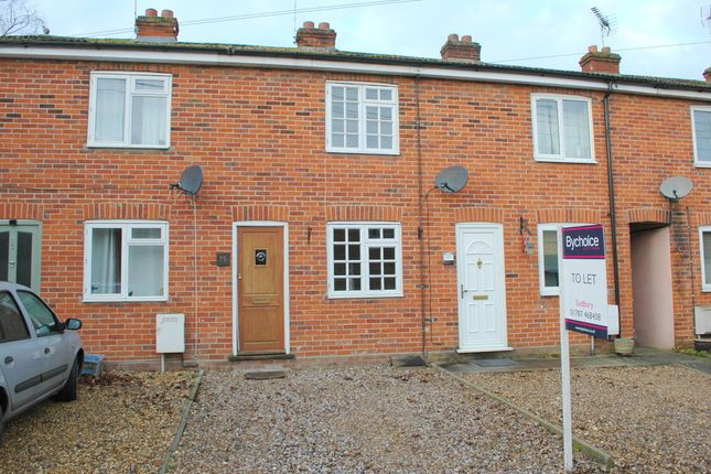 Thumbnail Terraced house to rent in Brook Street, Glemsford, Sudbury