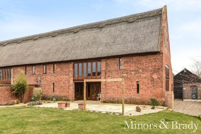Thumbnail Barn conversion for sale in Hemblington Hall Road, Hemblington, Norwich