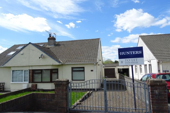 Thumbnail Semi-detached bungalow to rent in Coychurch Road, Pencoed, Bridgend