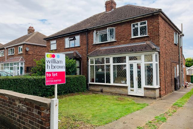 Thumbnail Semi-detached house to rent in Grange Lane South, Scunthorpe