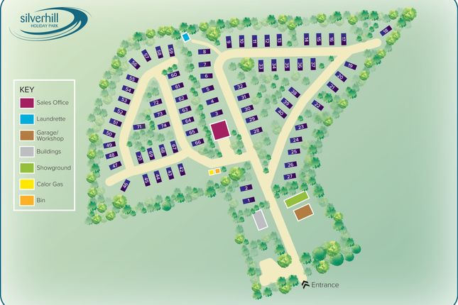 Site Map of Silverhill Holiday Park, Lutton Gowts, Lutton, Spalding, Lincolnshire PE12