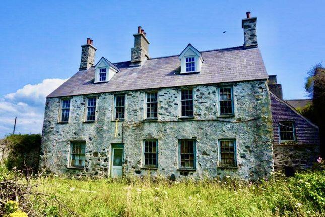 Thumbnail Detached house for sale in Llanfairynghornwy, Holyhead