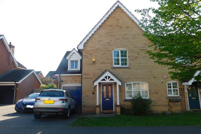 Semi-detached house for sale in Swift Drive, Stowmarket