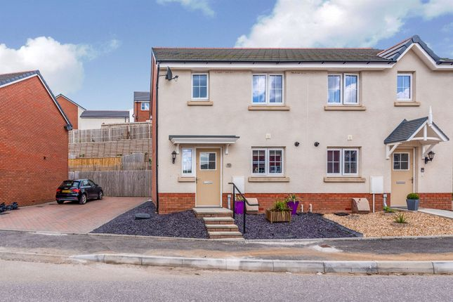 Thumbnail Semi-detached house for sale in Highfields, Coedely, Tonyrefail