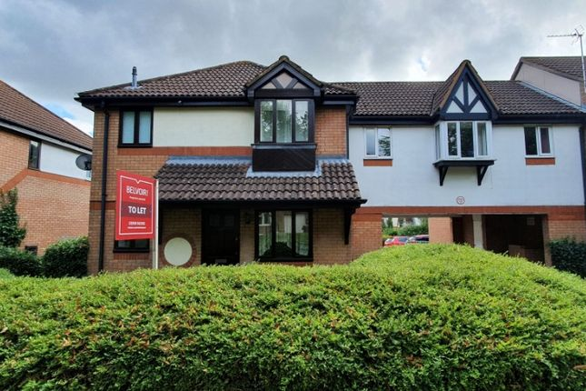 Thumbnail 1 bed end terrace house to rent in Lynmouth Crescent, Furzton, Milton Keynes
