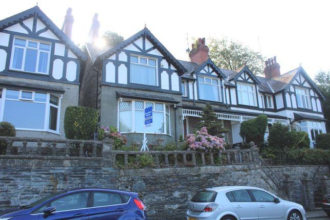 Thumbnail Semi-detached house for sale in Borth-Y-Gest, Porthmadog, Gwynedd