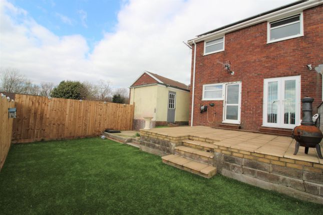 Thumbnail Semi-detached house for sale in Shannon Close, The Bryn, Pontllanfraith, Blackwood