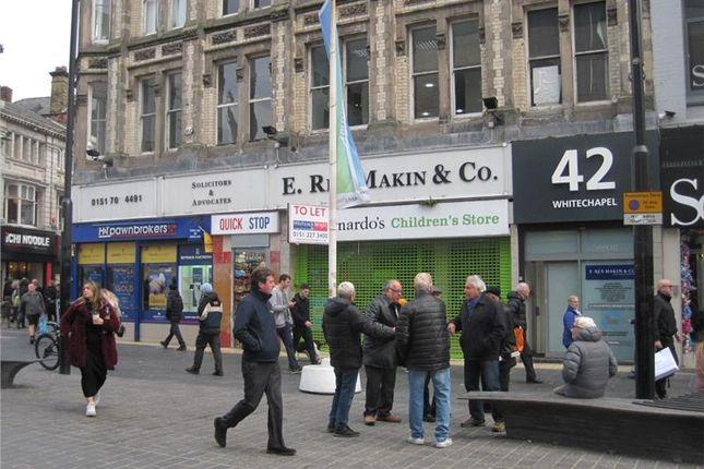 Thumbnail Retail premises to let in Whitechapel, Liverpool, Merseyside