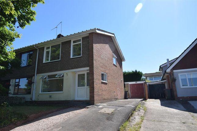 Thumbnail Semi-detached house to rent in Harrow Close, Caerleon, Newport