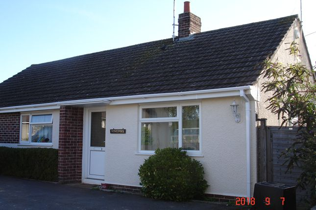 Thumbnail Detached bungalow to rent in Ninepins, Moor Lane, Wincanton, Somerset