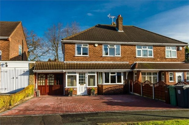 Thumbnail Semi-detached house for sale in Long Mill North, Wednesfield, Wolverhampton, West Midlands