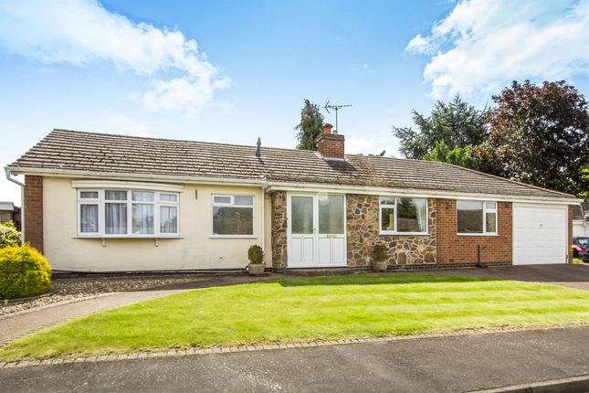 Thumbnail Detached bungalow for sale in Walnut Close, Oadby, Leicester