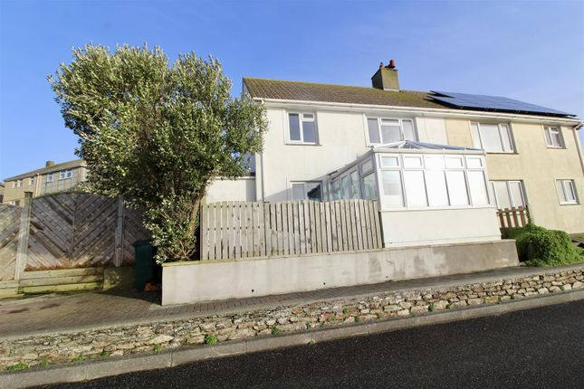 Thumbnail Semi Detached House For Sale In Ocean Crescent Porthleven Helston