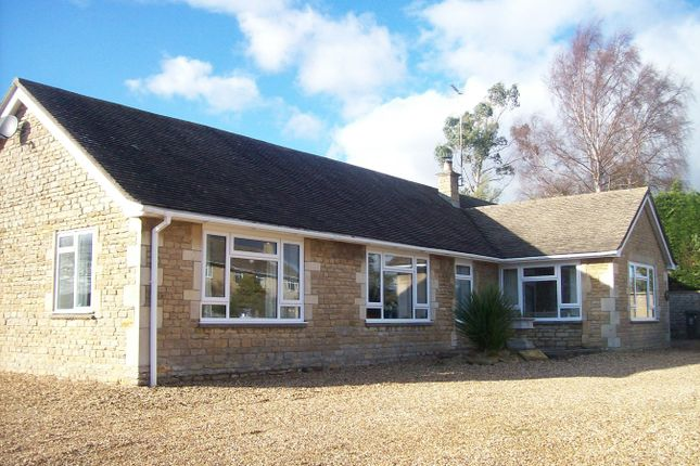 Thumbnail Detached bungalow to rent in Fotheringhay Road, Nassington, Peterborough