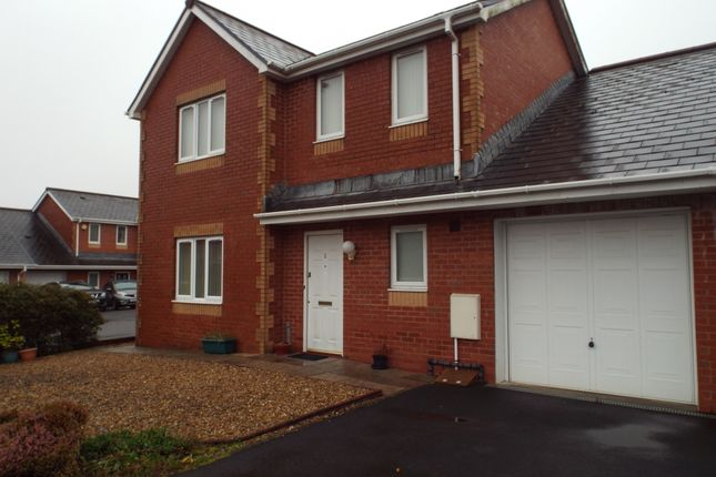 Thumbnail Link-detached house for sale in Heol Derwen, Cross Hands, Llanelli