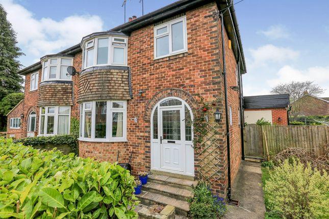 Thumbnail Semi-detached house for sale in Woodlands Close, Harrogate