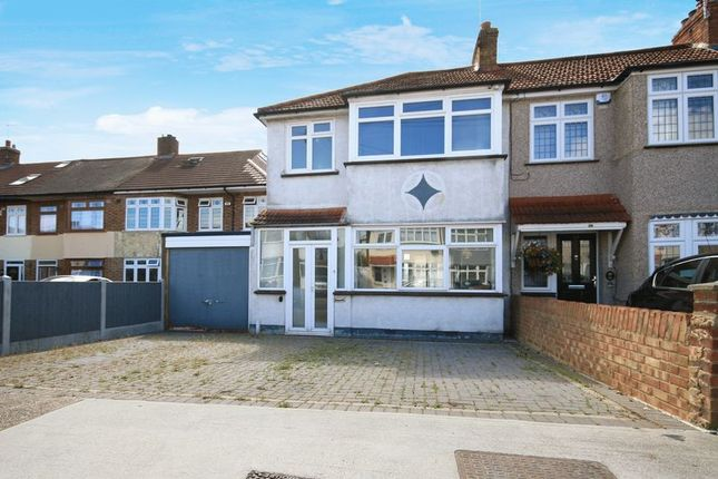 Thumbnail End terrace house for sale in Heather Way, Rise Park, Romford