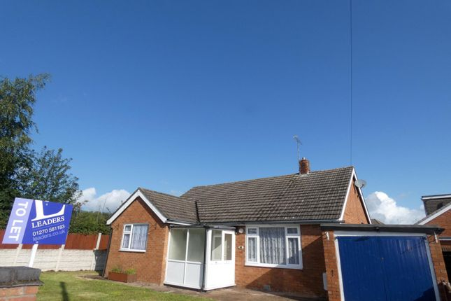 Thumbnail Bungalow to rent in Mere Road, Weston, Crewe