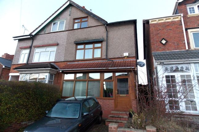 Thumbnail Semi-detached house for sale in Manor Road, Stechford, Birmingham