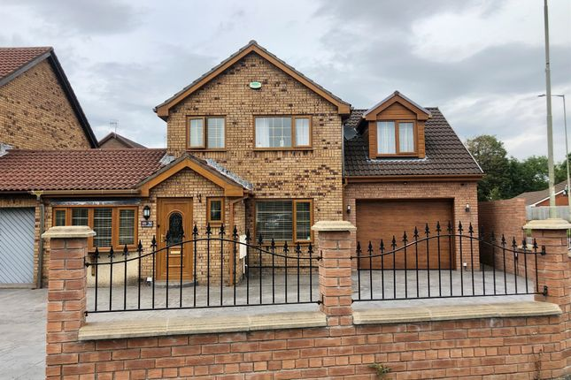 4 bed link-detached house for sale in Heol Cambrensis, Pyle, Bridgend CF33