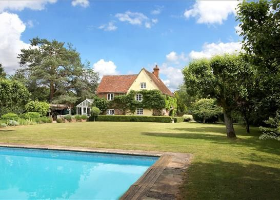 Thumbnail Detached house for sale in Bramley Road, Silchester, Reading Hampshire