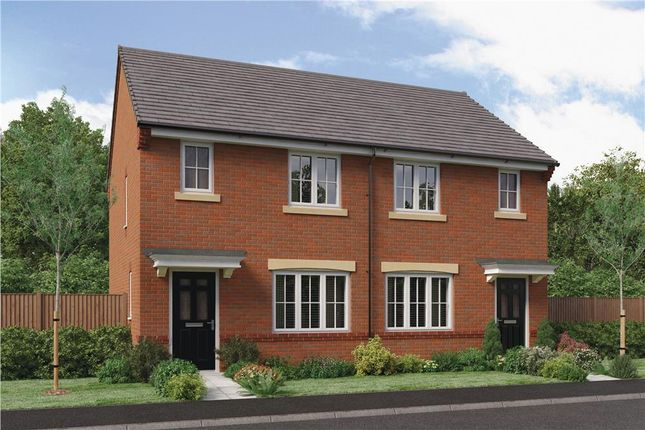 "Thumbnail Semi-detached house for sale in ""The Yare"" At Ladyburn Way, Hadston, Morpeth NE65, Hadston,"
