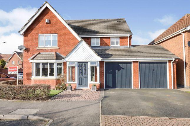 Thumbnail Detached house for sale in Rudd Gardens, Bentley Bridge Wednesfield, Wolverhampton