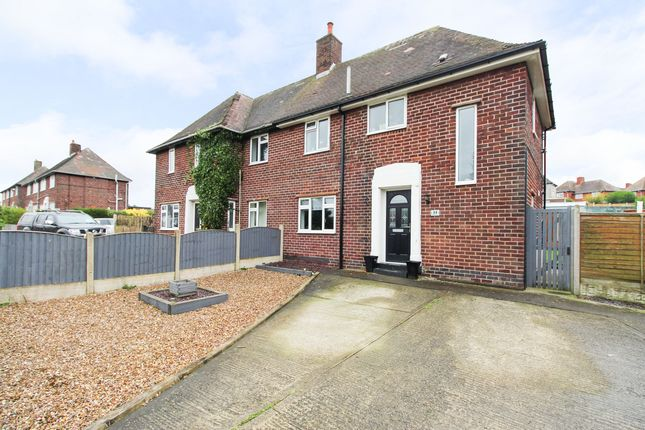Thumbnail 3 bed semi-detached house for sale in Birkin Lane, Grassmoor, Chesterfield