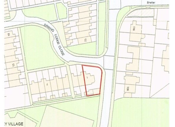 Site Plan of Land At Spring Lodge Close, Eastbourne BN23